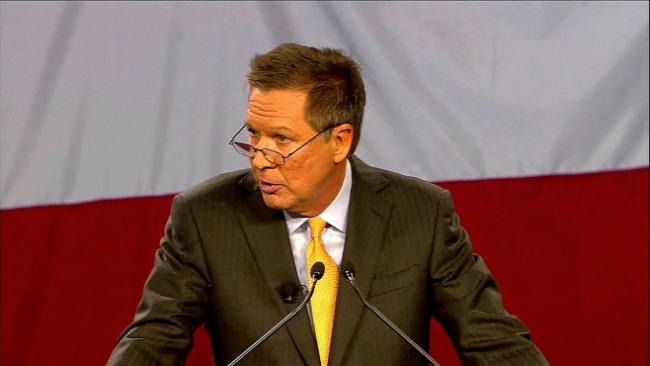 Ohio Gov. John Kasich gave his state of the state address in Wilmington, Ohio_32058