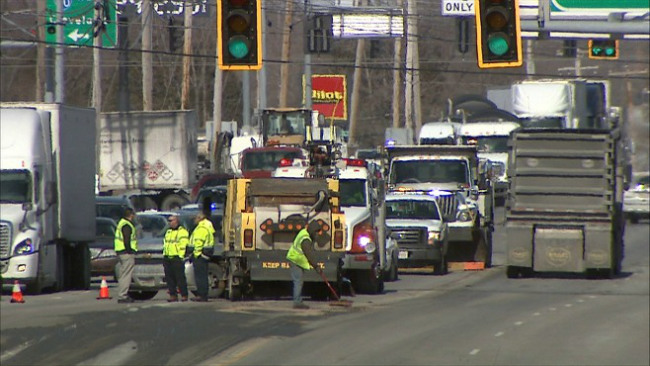 sewage spilled on route 46 in Austintown_32196