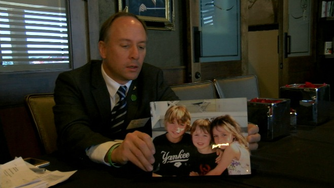 The father of a Sandy Hook victim spoke Friday at a seminar in Poland_30397