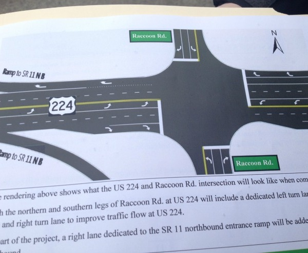 224 near SR 11 to be reduced to one lane Weds, Thurs_34373