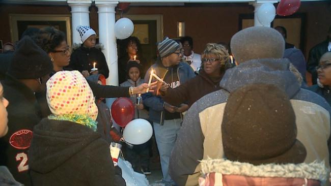A vigil was held for Sharon murder victim Jaylen West_33020