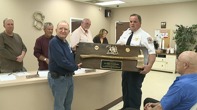 Springfield Township honored Dave Snyder for his 50 years as a volunteer firefighter_40413
