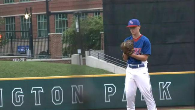 Western Reserve's Wyatt Larimer had 10 K's and an RBI to help the Blue Devils reach the State Final._42785