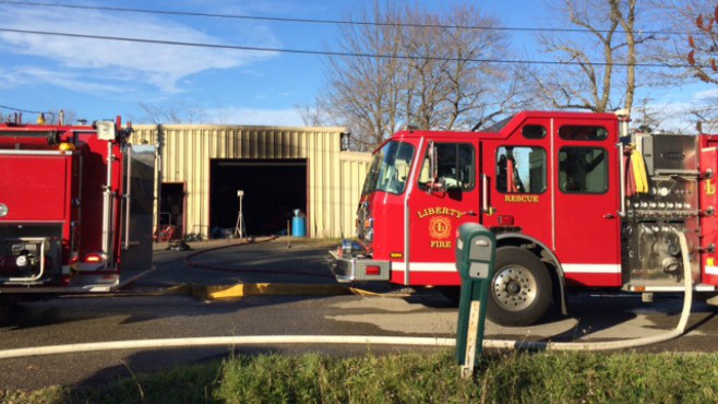 Garage fire in Liberty causes damage, no injuries_57950
