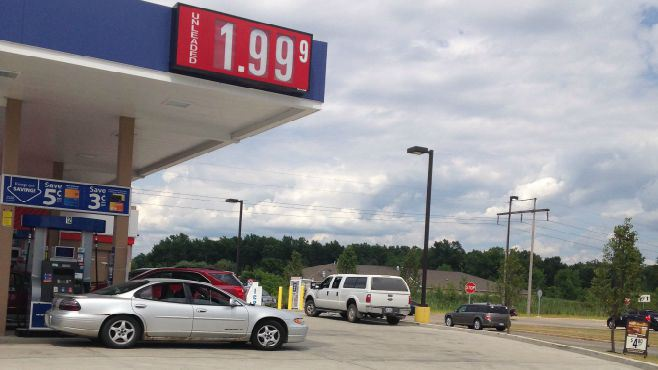 Gasoline prices up a few cents_57057