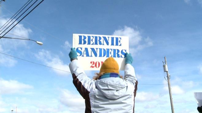 Supporters march in Boardman for Bernie Sanders_65389