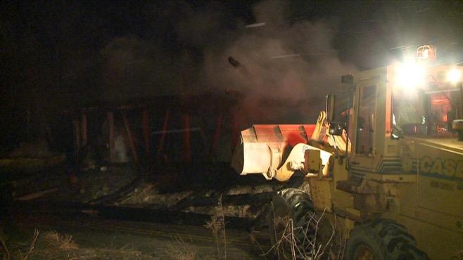 Fire lights night sky, destroys barn in Lawrence County_69595