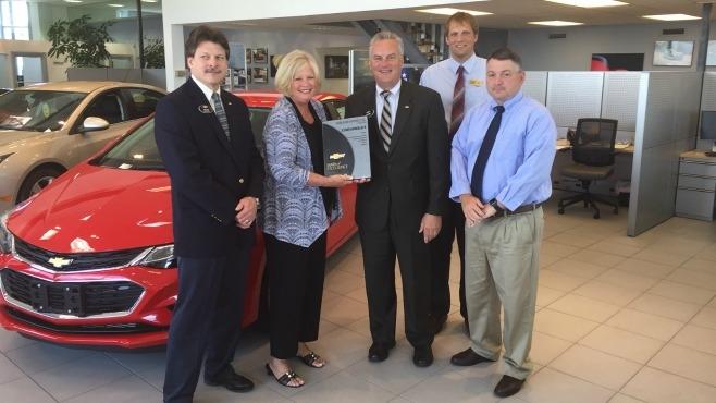 Diane Sauer Chevrolet Receives Mark Of Excellence Award