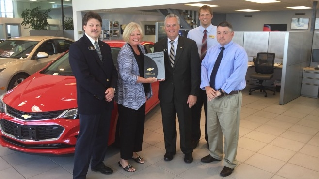 diane sauer chevrolet receives mark of excellence award wytv