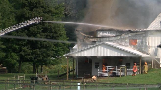 Barn fire, Middlefield_92713