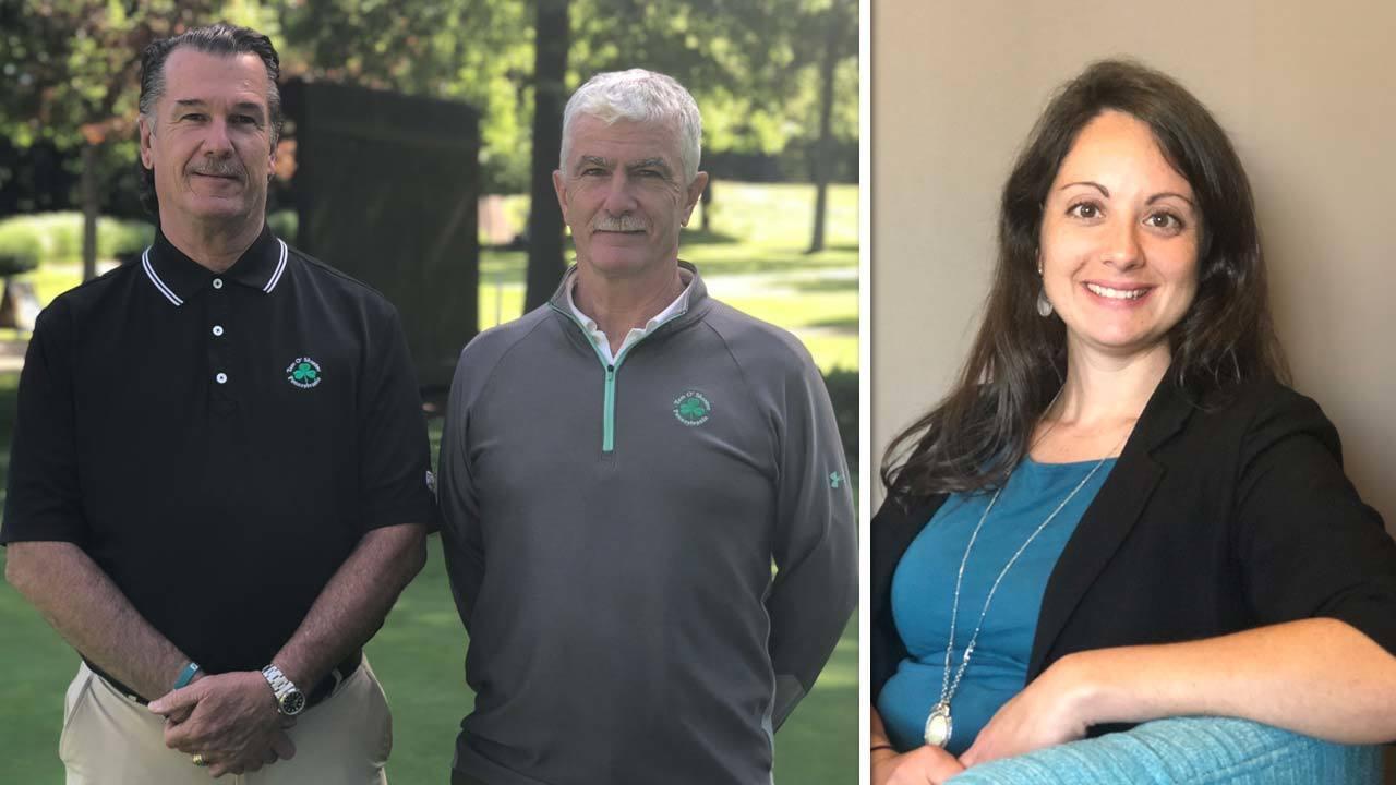 John and Rick Kerins, winners of James E. Winner Jr. Tourism Initiative Award, and Stacey Glenn, winner of Bill Knecht Tourism Award