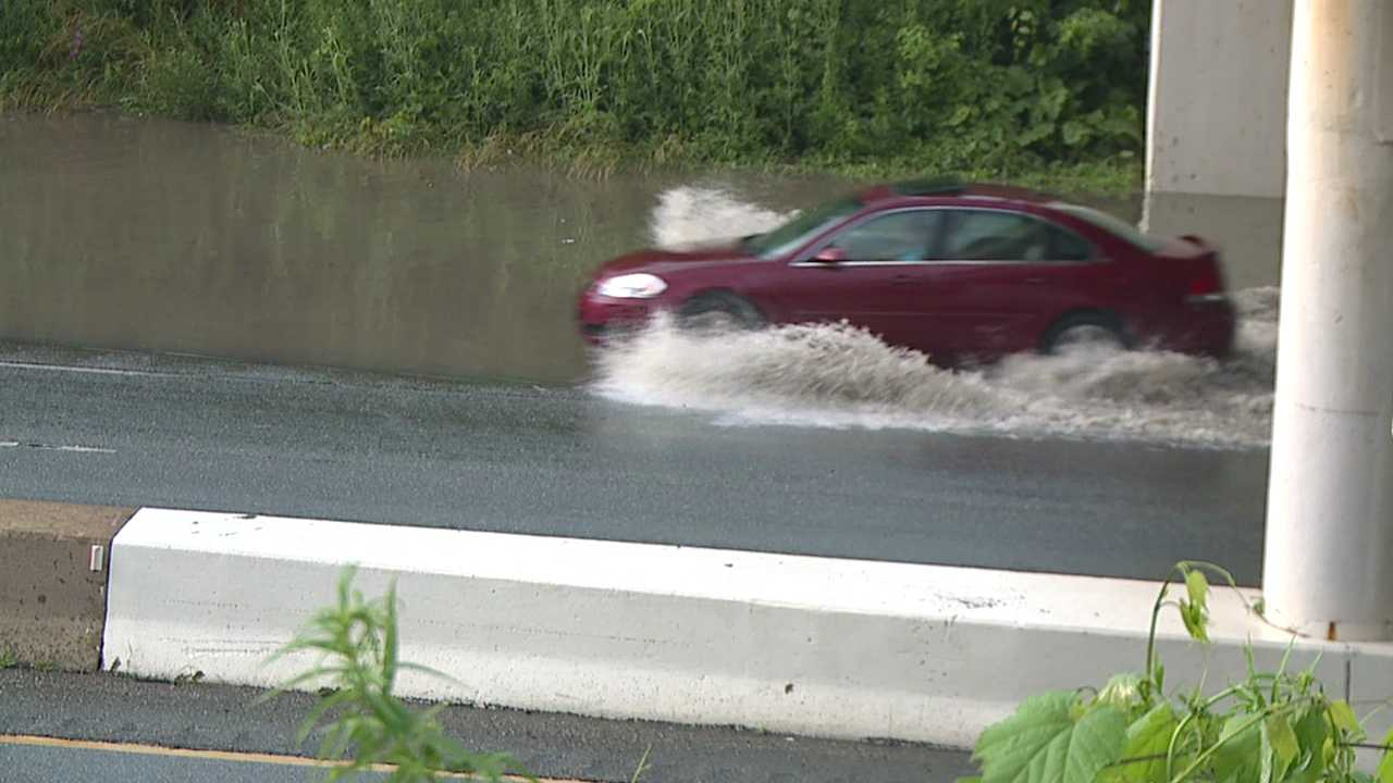 Flooding on I-680 near South Avenue in Youngstown