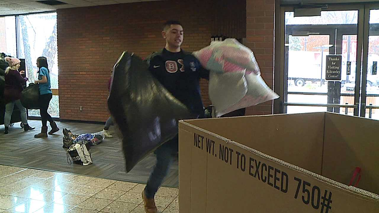 Clothing drive at Youngstown State for Greek Week