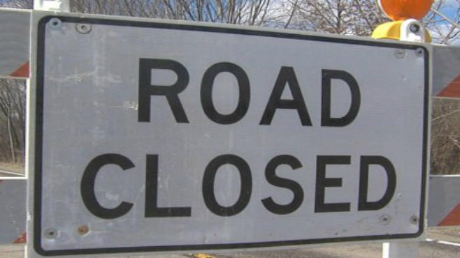 Road closed-