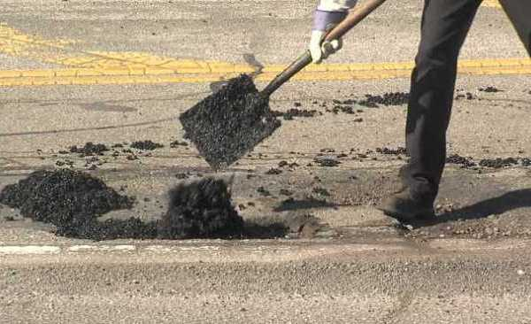 Mahoning County Engineer pothole patching