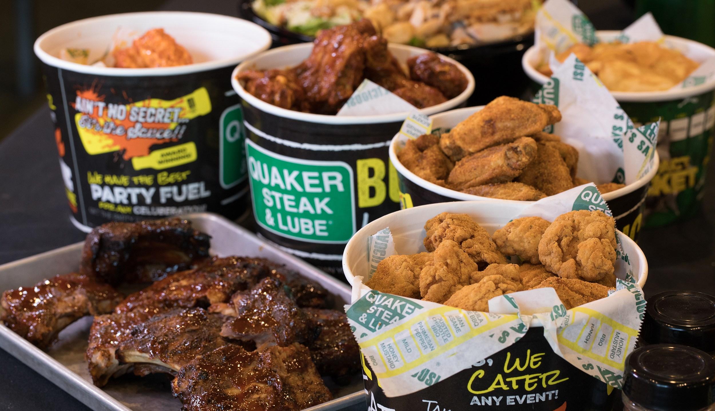 Quaker Steak & Lube catering