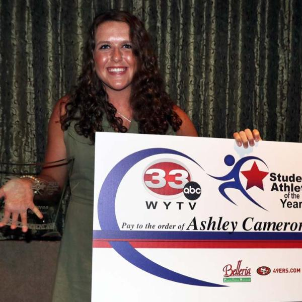 2019 Student Athlete of the Year, Ashley Cameron