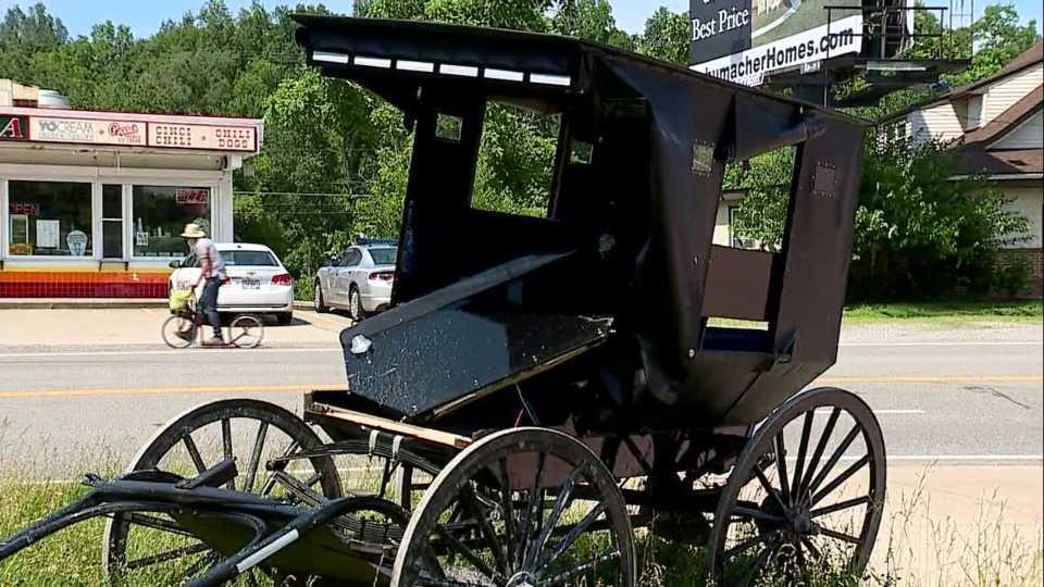 Amish buggy versus car crash in Geauga County