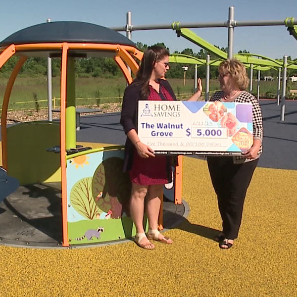 Home Savings donates $5,000 to all-inclusive Canfield playground