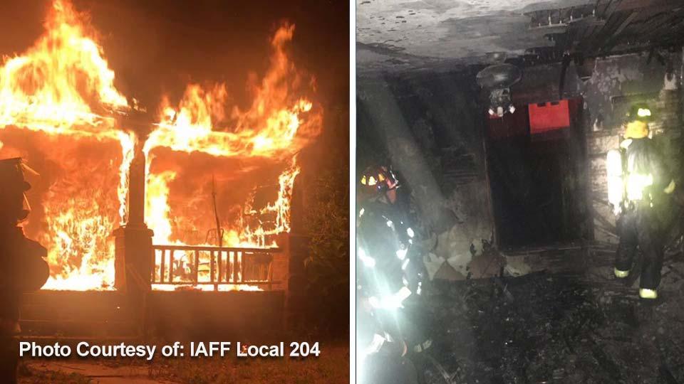 House fire on Ohio Avenue in Warren.