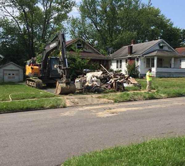 E. Dewey Youngstown trash house