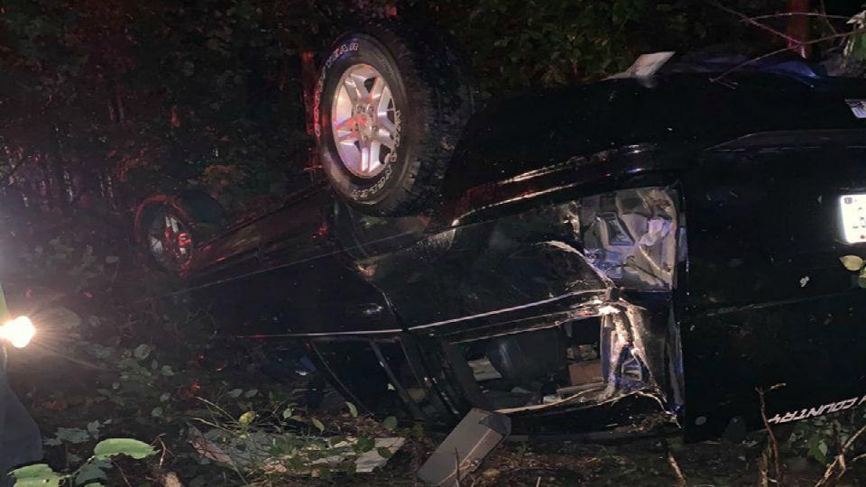 Rollover crash in Brookfield, Ohio