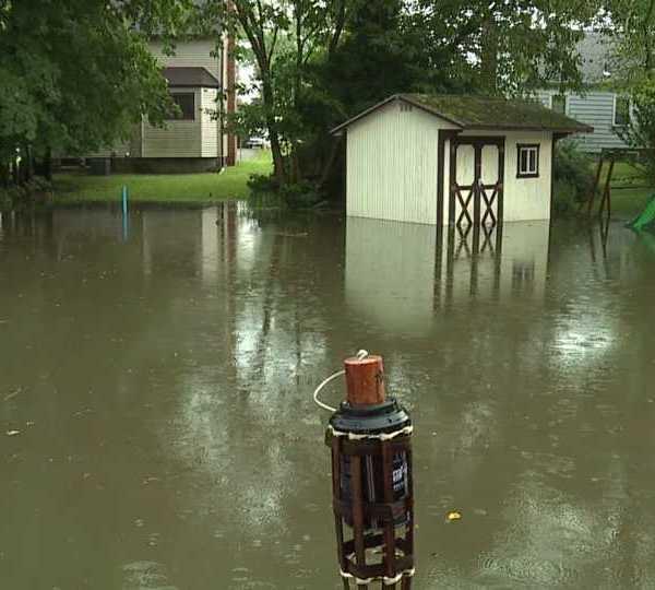 Flooding along Brookfield Drive in Boardman
