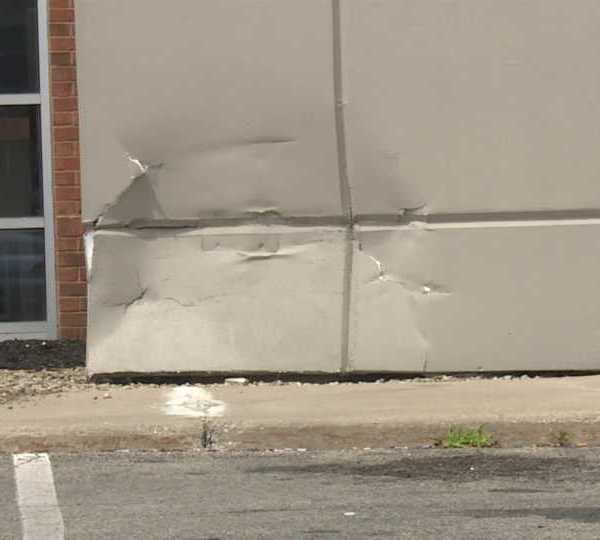 Car crashes into Howland Chase Bank