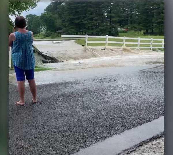Columbiana Metz Road flooding