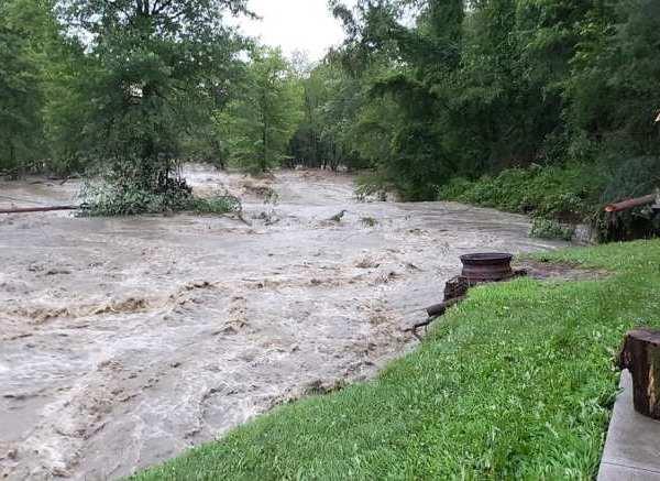 Kinsman Lake flooded