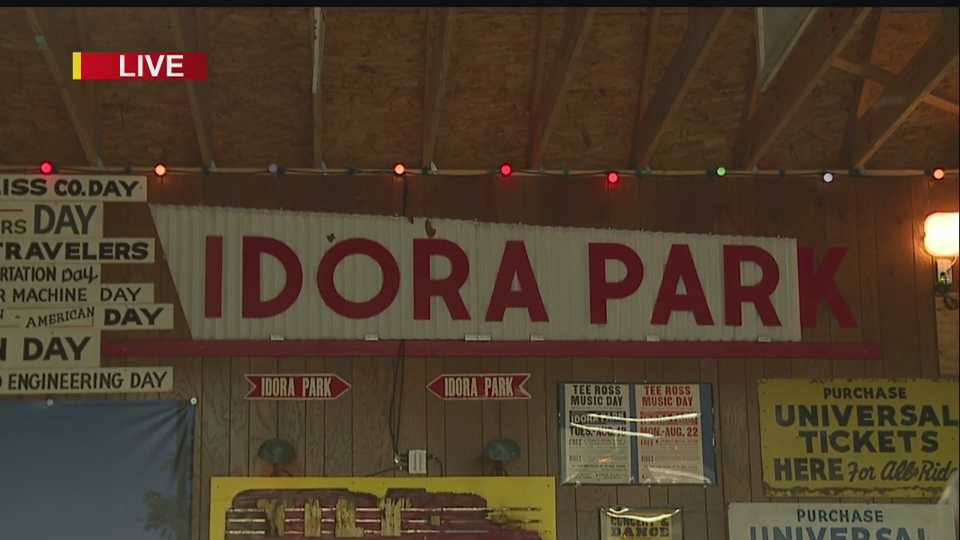 Original Idora Park sign in Canfield