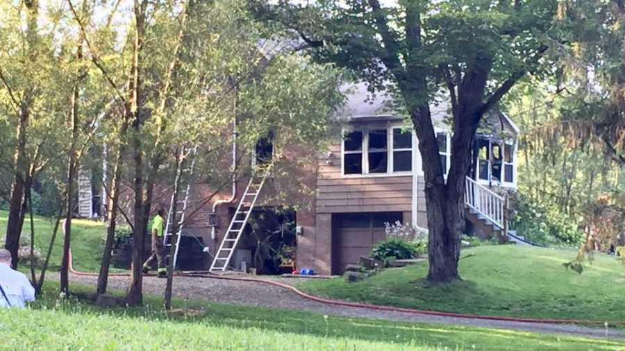 House fire in Pulaski Township