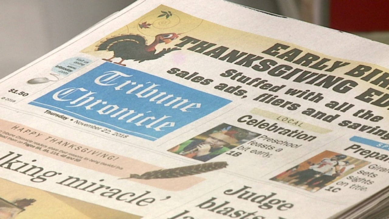 Tribune Chronicle To Publish Mahoning County Edition