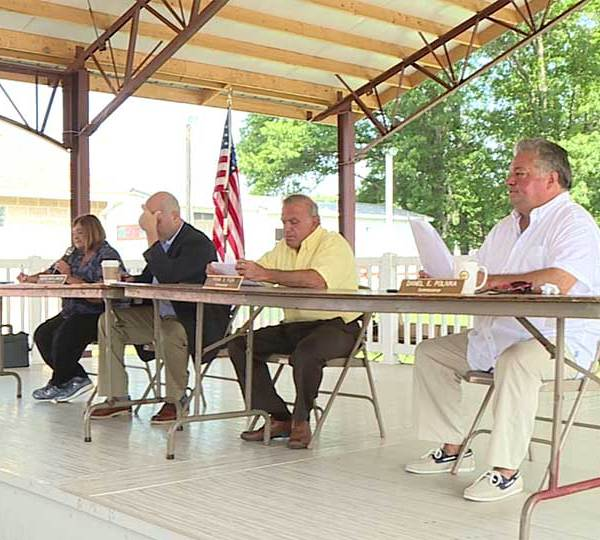 Trumbull County Commissioners held their weekly meeting at the fairgrounds Wednesday.