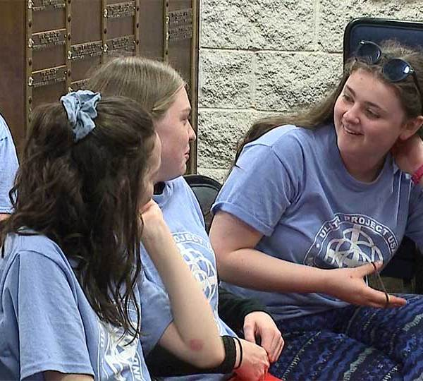 Teens from Northern Ireland began their stay in the Mahoning Valley Tuesday.
