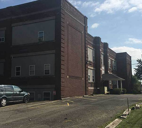 Ten fire departments were called in to help battle a fire Thursday at a business and apartment complex in Sharpsville.
