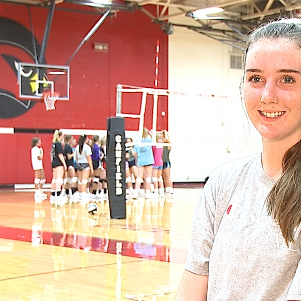 The Canfield senior is an All Conference middle hitter for the Cardinals with a 4.1 GPA.