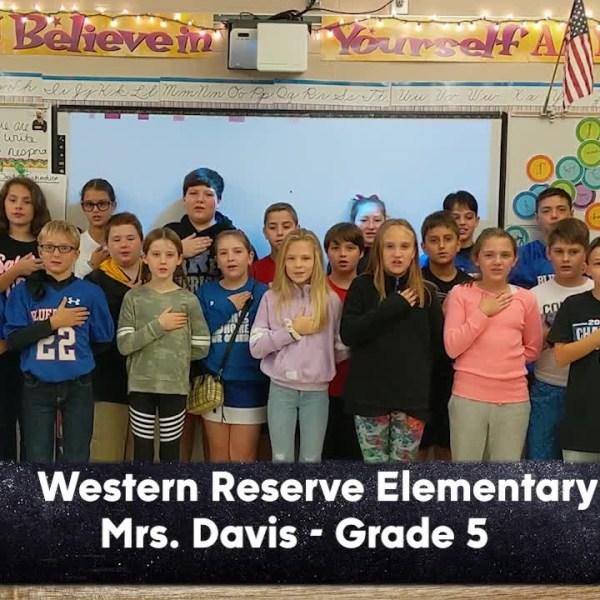 Western Reserve Elementary - Mrs. Davis - 5th Grade