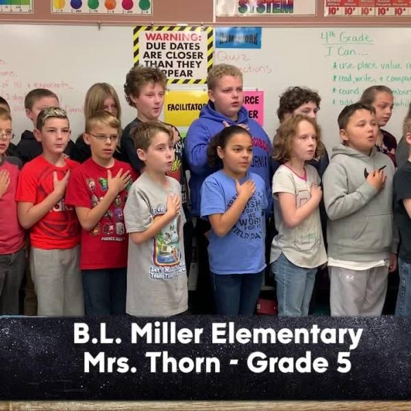 B.L. Miller Elementary - Mrs. Thorn - 5th Grade
