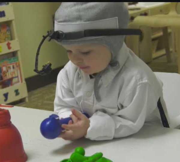 Cochlear implant helps deaf to hear children