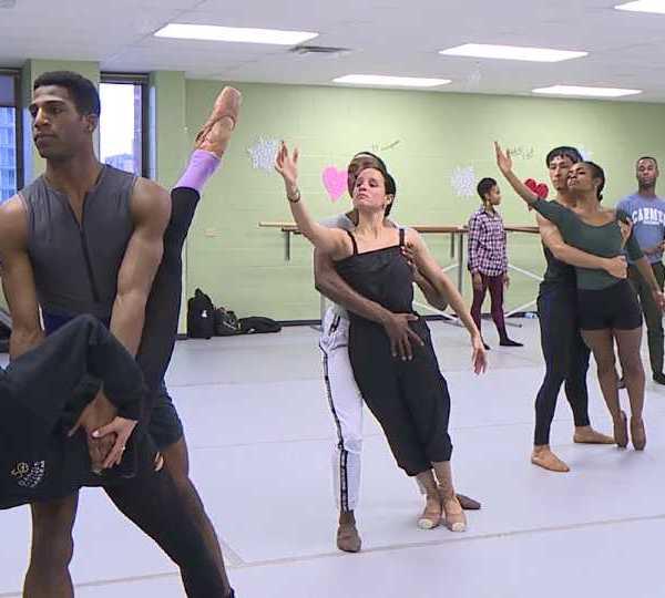 Dance Theatre of Harlem ballet practice