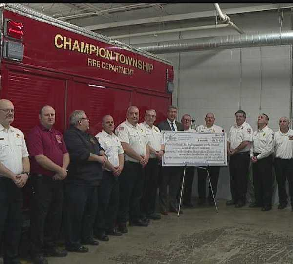 Firefighters meeting in Champion to receive grant