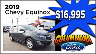 Chevy Equinox, Columbiana Ford, MyValleyCars
