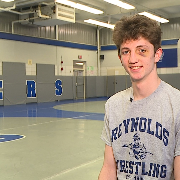 The Reynolds senior is a State Qualifier on the wrestling mat, heading to Harvard next year with a 4.0 GPA.