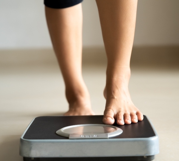 Losing weight, scale, health.