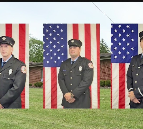 Liberty firefighters Cleland, Graham and Olson