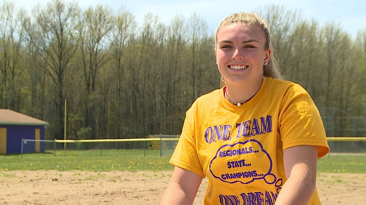 The Champion senior is an All State pitcher with numerous school records; she's heading to play softball at Ohio State next year with a 4.0 GPA