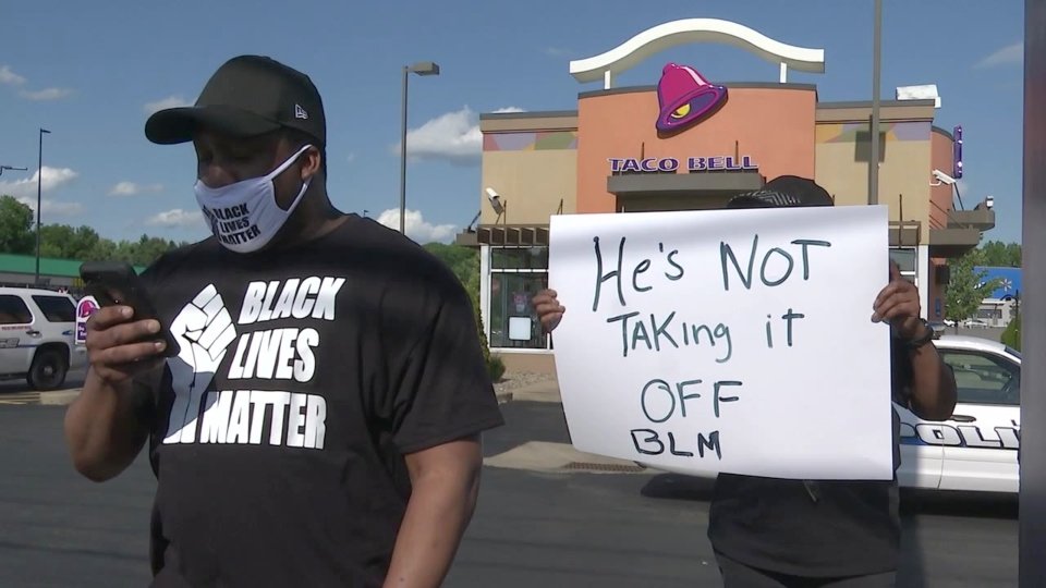 Black Lives Matter mask, Taco Bell Liberty