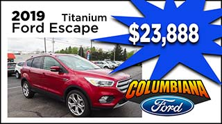Ford Escape, Columbiana Ford, MyValleyCars