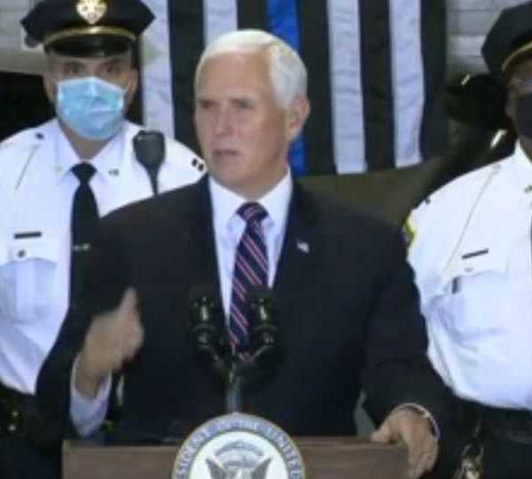 Mike Pence at Youngstown Police Department